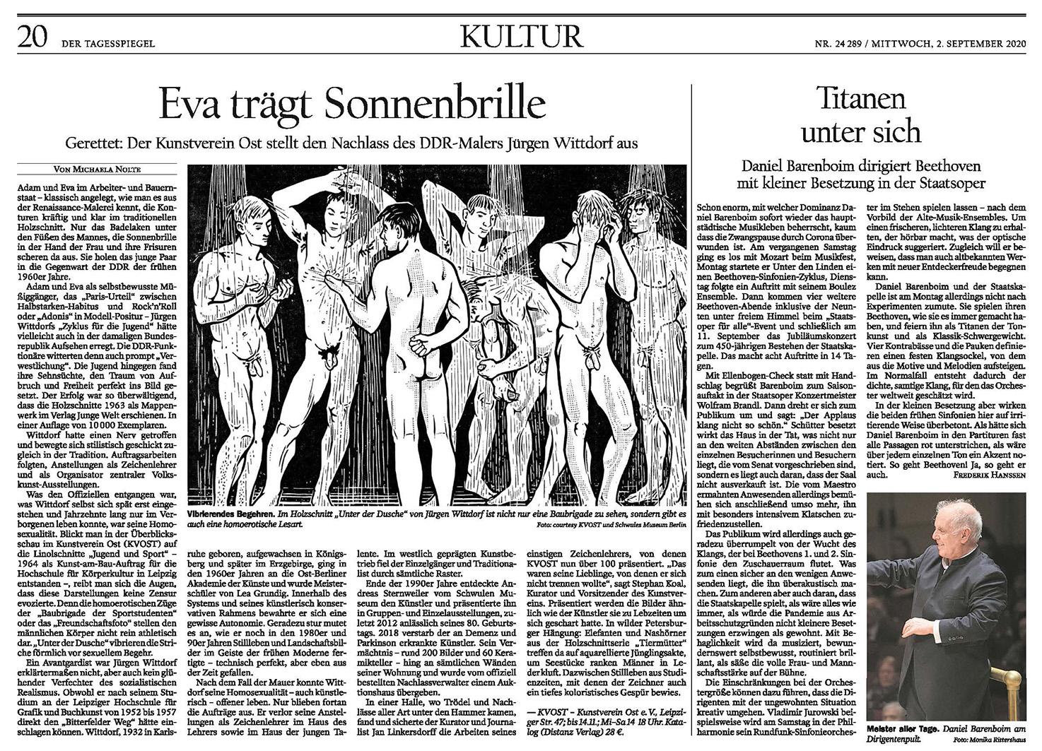 Tagesspiegel / Feuilleton