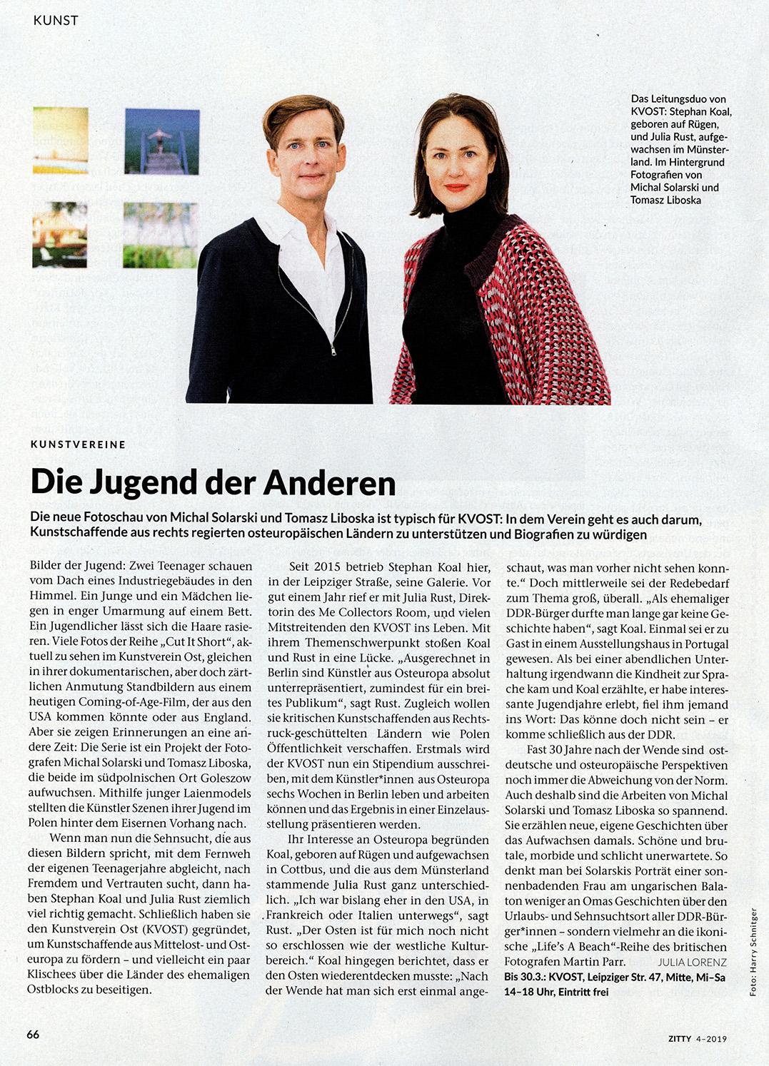 KVOST im Zitty Magazin